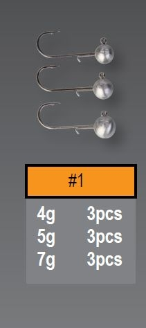 Savagear Ball Jig Head 7gr No:1 3 adet