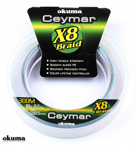 Okuma Ceymar (Multı Color) 0.205mm 150mt 8Kat Örgü İp