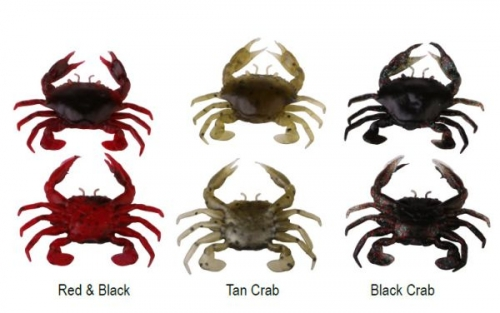 SAVAGEAR 3D MANIC CRAB 2,5 CM 5 PCS RED/BLACK SİLİKON SAHTE