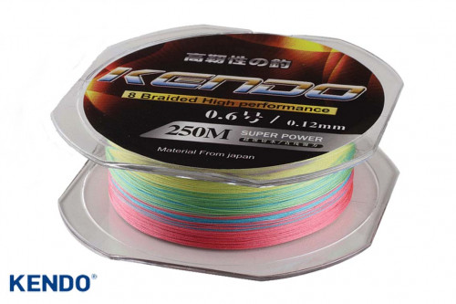 Kendo Dynema 8 Örgü 250Mt (Multıcolour) - 0,18mm İp Misina