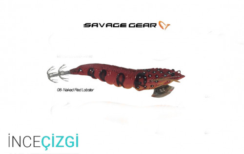 Savagear 3D Shrimp Egi Jig 9 cm 23 gr Suni Yem - Naked Red Lobster