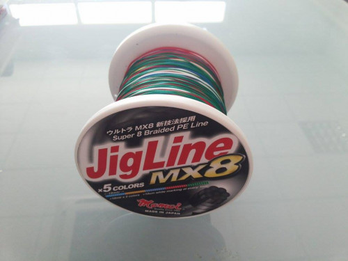 MOMOI JIGLINE MX8 1000MTR/SPOOL 0.30MM (#3,5) 55LB/25KG MULTI-COLOR