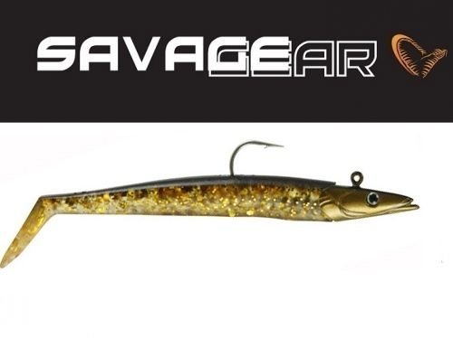 Savagear Sandeel 12.5cm, 23gr Brown Gold