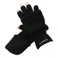 EIGER FLEECE GLOVE HALF FINGERS DARK GREY XL