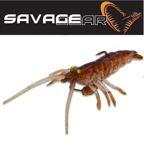 Savagear TPE Fly Shrimp 5cm Lrf Silikon Sahte 2.65 gr Brown NL