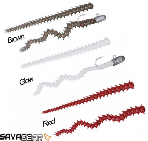 Savage gear Lrf Ragworm Kit 18+2 Adet (Red-Brown-Glow)