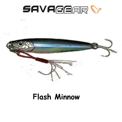 Savagear  3D Slim Minnow Jig 40g Flash Minnow
