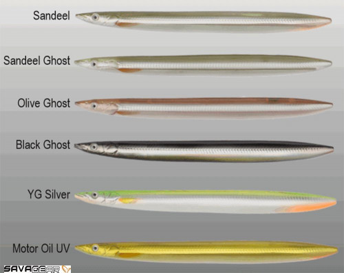 Savage Gear B-SG Line Thru Sandeel 175mm 40g-03-Black Ghost